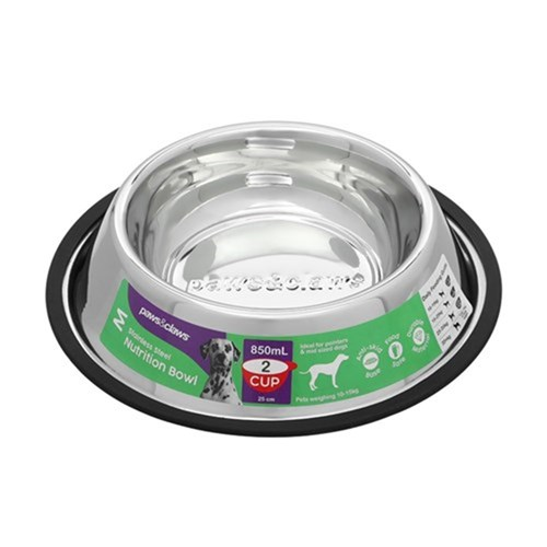 STAINLESS STEEL PET BOWL BLACK