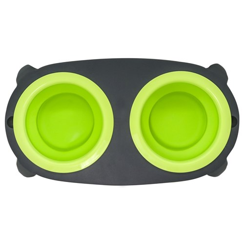 COLLAPSIBLE DUO PET BOWL